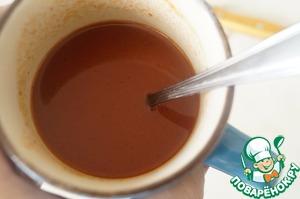 Ketchup diluted with water, add salt to taste, season with ground black pepper.