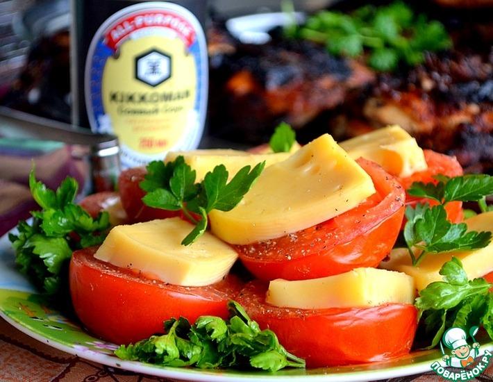 Рецепт: Сырные пряные томаты-гриль