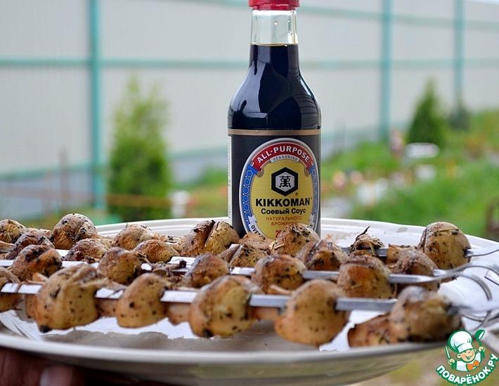 Рецепт: Шампиньоны-гриль в пряном маринаде
