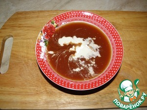 For the gravy tomato connect. paste (or ketchup) + water + sugar + soy sauce + starch.