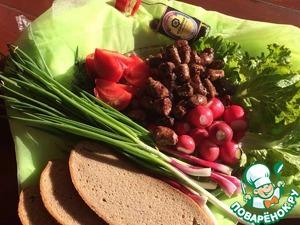 Подать со свежими овощами и зеленью.