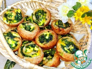 Fragrant and crusty rolls.  I ate them with milk.