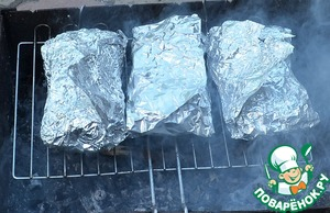 Bake on gray coals for 20 minutes - 25.