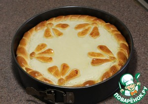 This is such a wonderful ruddy pie we have. Fully cool it, and enjoy its delicate and creamy taste!  Angel you for a meal!