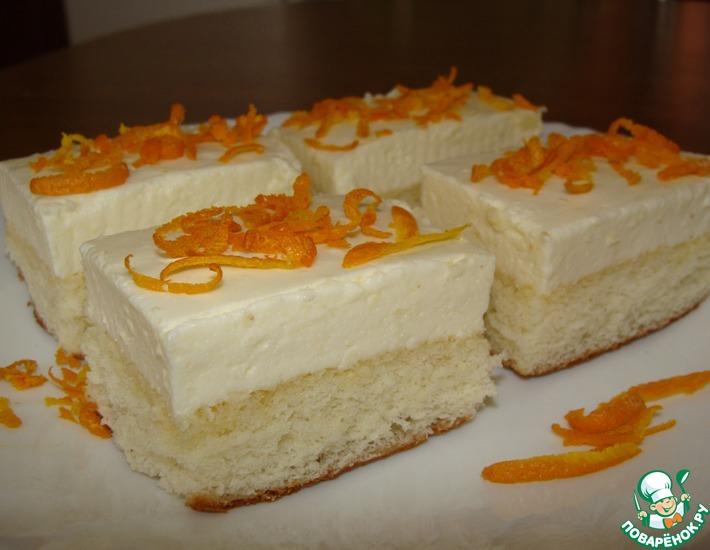 пирожное из бисквита рецепт с фото