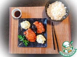 Serve the chicken with Tartar sauce and rice. If you have remaining sauce, Nanban, it also serve for dipping the chicken pieces. Very tasty! Bon appetit!