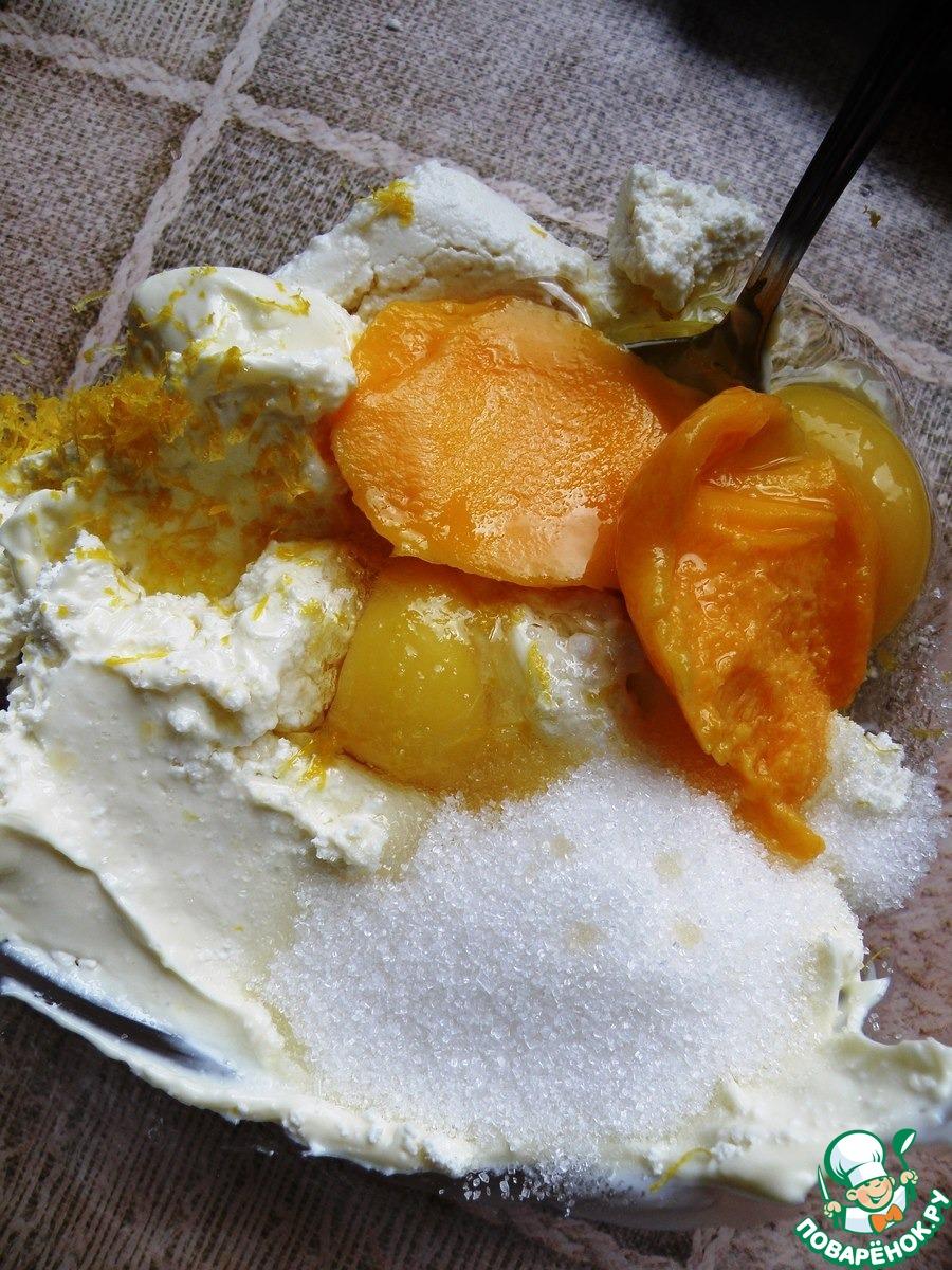Корзиночки с запеченным творожно-манговым суфле