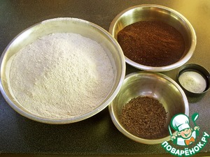 Mix all dry ingredients - flour, malt, baking powder and cumin.