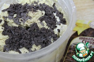 Add chocolate chips or drops. Again mix everything carefully.