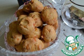 Рецепт: Печенье сырное с арахисом
