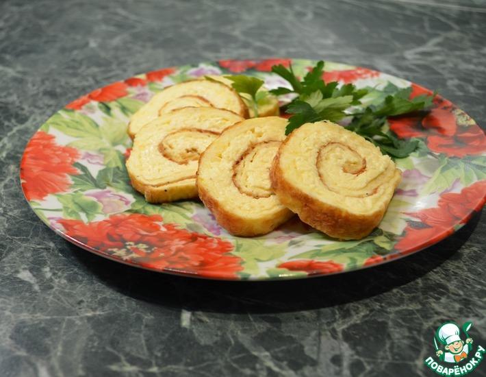 Рецепт: Рулет из омлета с сыром