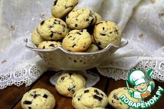 Рецепт: Печенье на пудинге с шоколадными каплями