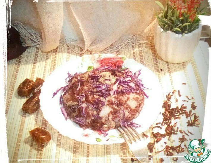 Рецепт: Тёплый салат с курицей Ультрафиолет