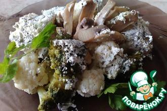 Рецепт: Цветная капуста под чесночно-сливочным соусом
