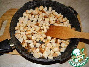Mix well and bring to readiness, they should absorb the oil and fry until Golden brown.
