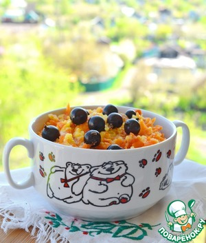 Millet porridge with carrots and dried apricots