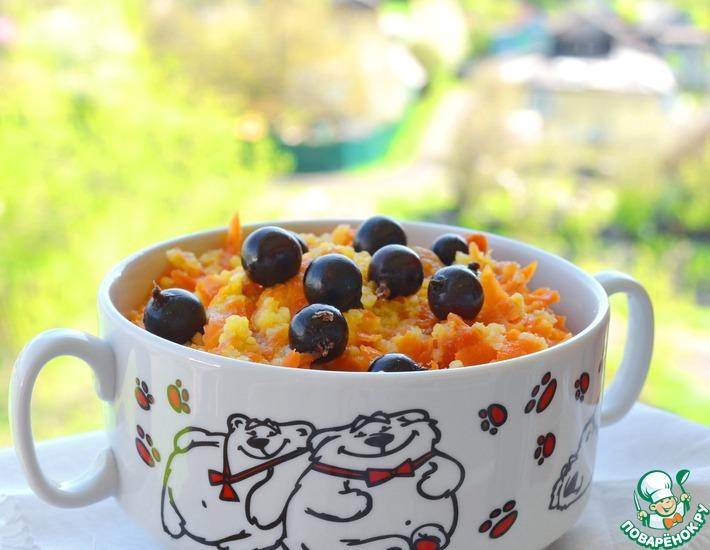 Рецепт: Каша пшенная с морковью и курагой