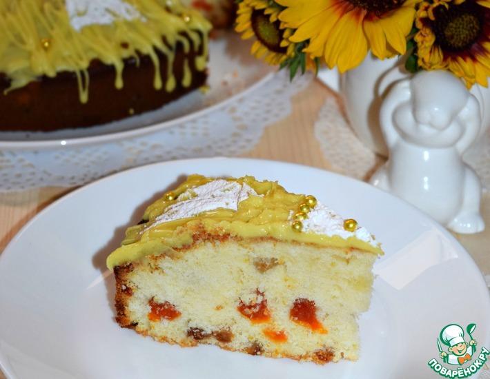 Рецепт: Лимонный пирог Солнечный зайчик