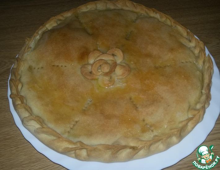 Рецепт: Пирог с мясом и капустой