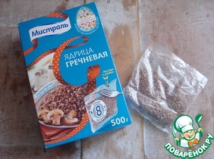 Garnish boil the buckwheat in bags, as indicated on the package.
