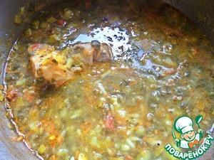 Доводим до лёгкого кипения суп, выключаем. Можно настояться дать, а можно кушать сразу.