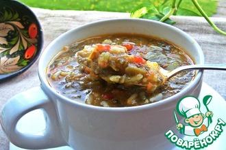 Рецепт: Суп щавелевый с рисом