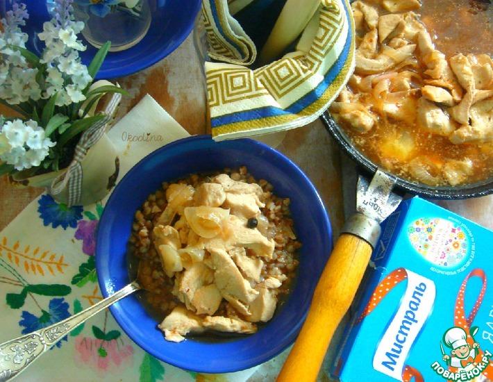 Рецепт: Гуляш из куриной грудки Дачное вдохновение