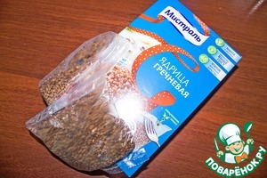In boiling salted water, throws the bags with buckwheat and cook until tender. I like the buckwheat TM Mistral-always crisp, fluffy like that.