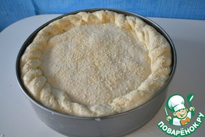 Grease the pie with milk and sprinkle with sesame seeds. Bake in preheated oven until tender, about 40-60 minutes.