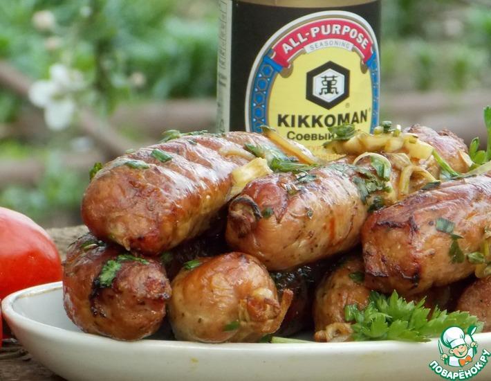 Рецепт: Куриные купаты-гриль