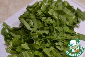 Cut the washed sorrel