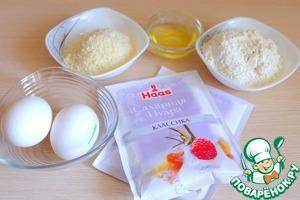 Ингредиенты для приготовления теста для пирожных