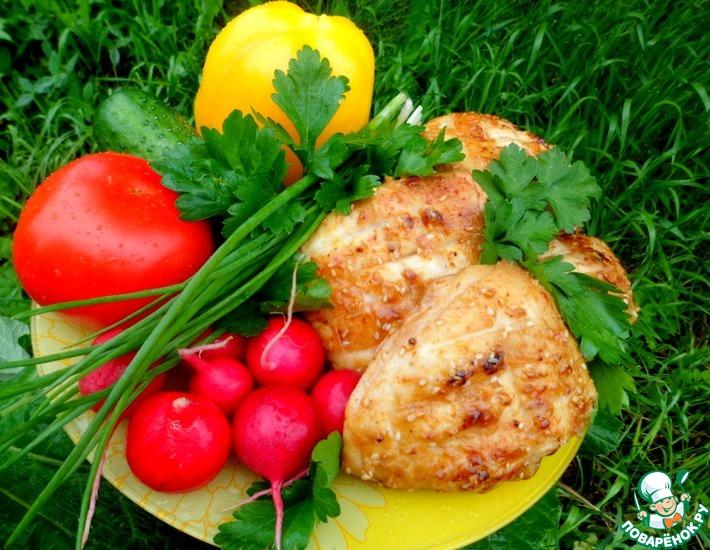 Рецепт: Куриные бедра Накрахмаленные