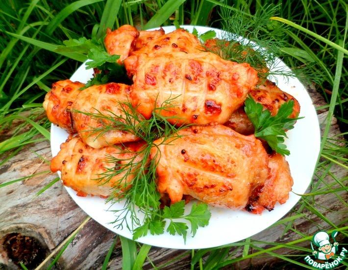 Рецепт: Пикантные куриные бёдра