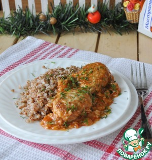 Serve buckwheat with cutlets hot, sprinkled with herbs.  Bon appetit!