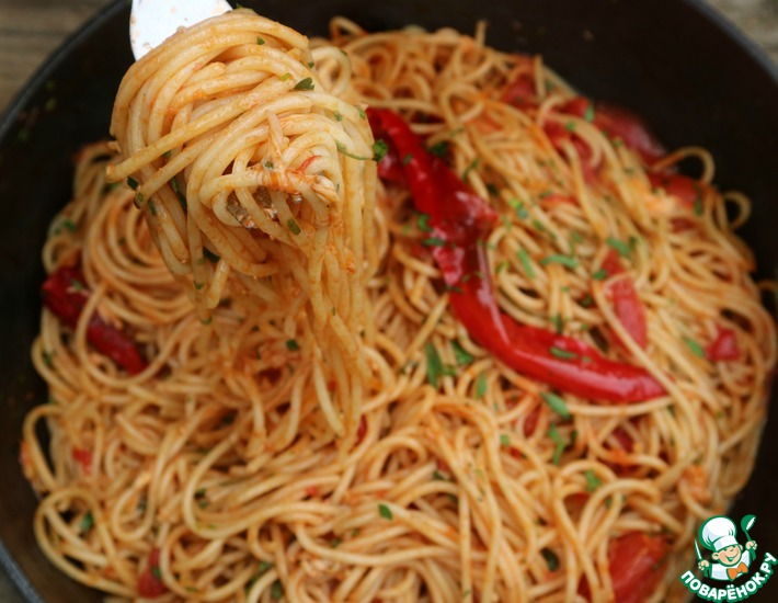 Рецепт: Спагетти Арабьята