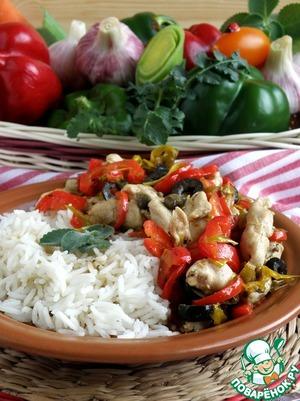 Аккуратно вскрыть пакетики, разложить горячий рис по тарелкам и тут же подавать с горячей пеперонадой. Дополнительно зелень и свежие овощи приветствуются.