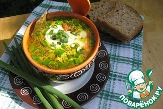 Рецепт: Рисовый суп Быстрый с куриной печенью