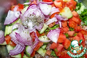 Sprinkle with salt and pepper to taste.