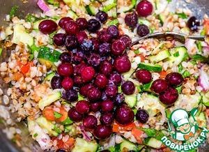 The latest add berries. Carefully stir.