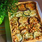 Кабачково-баклажанный пирог
