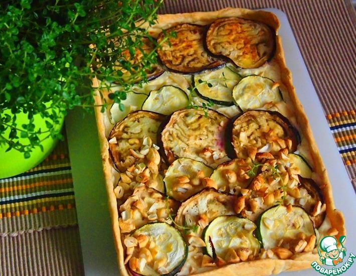 Рецепт: Кабачково-баклажанный пирог