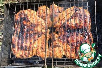 Рецепт: Куриная грудка в пивном маринаде