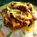 Рис с печенью по-восточному