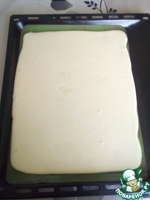 Put on a baking sheet silicone Mat or oiled baking paper and pour the dough