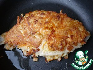 Fry in vegetable oil for 10 minutes on each side over medium heat, turning once.