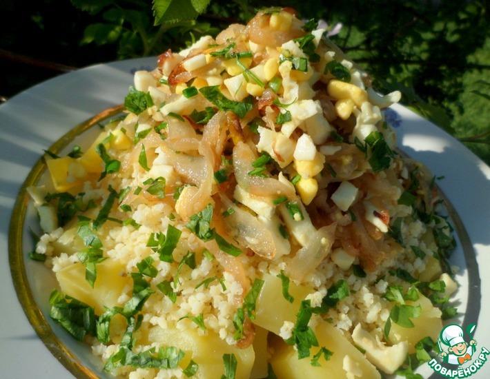 Рецепт: Пшено с картофелем и луком