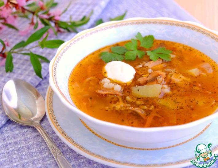 Рецепт: Суп Рыбацкий с перловкой