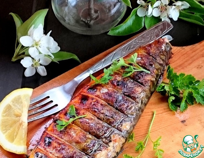 Рецепт: Ароматная скумбрия-гриль