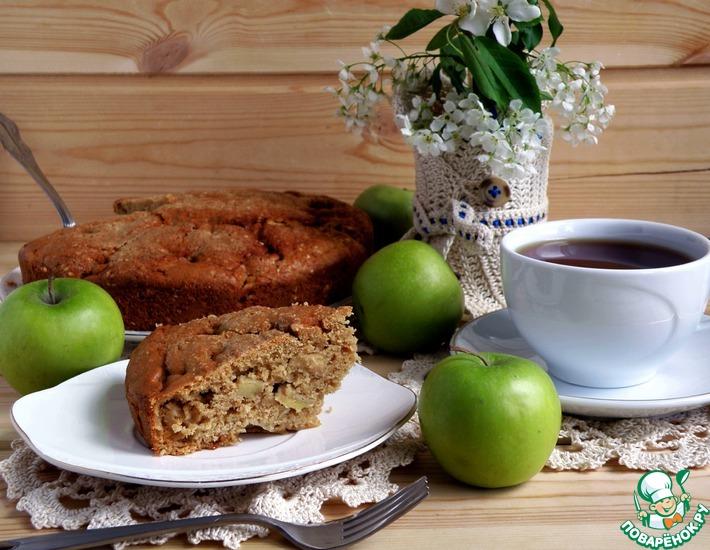 Рецепт: Яблочный пирог с карамельным вкусом